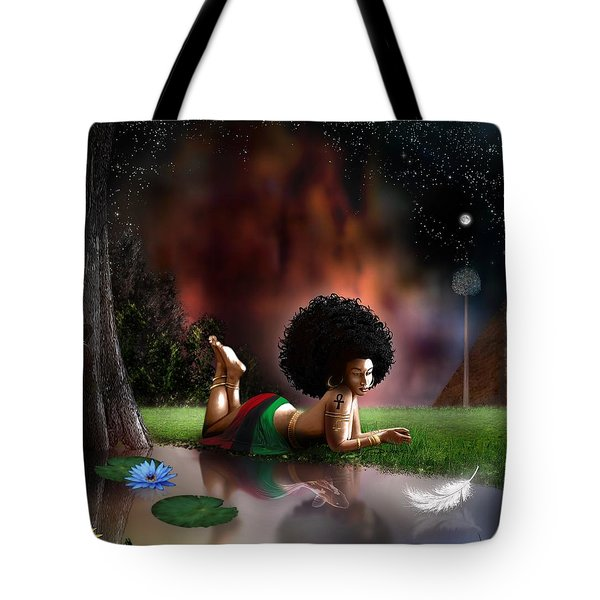 Tote Bag featuring the digital art Maat  by Dedric Artlove W