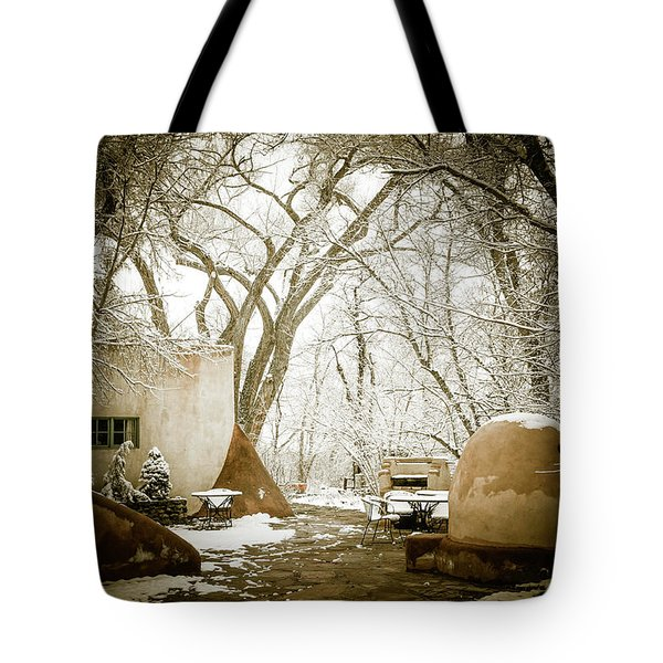 Tote Bag featuring the photograph Mabel Luhan Dodge Home Exterior by Marilyn Hunt