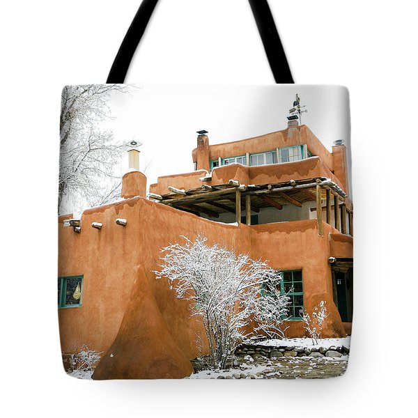 Tote Bag featuring the photograph Mabel Luhan Dodge House 1 by Marilyn Hunt