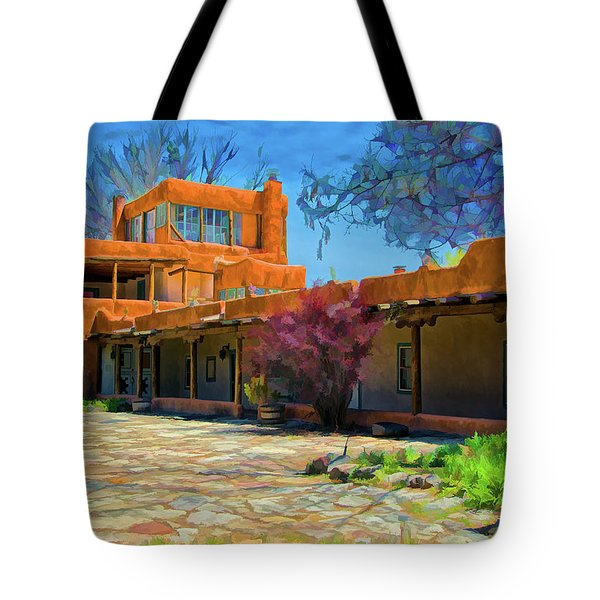Mabel's Courtyard As Oil Tote Bag