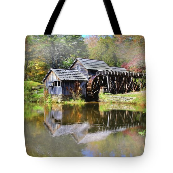 Mabry Grist Mill Tote Bag by Sharon Batdorf