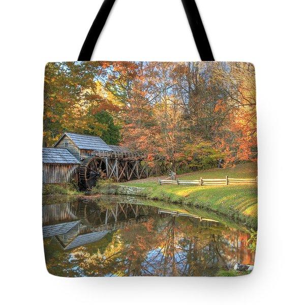 Mabry Mill. Blue Ridge Parkway Tote Bag