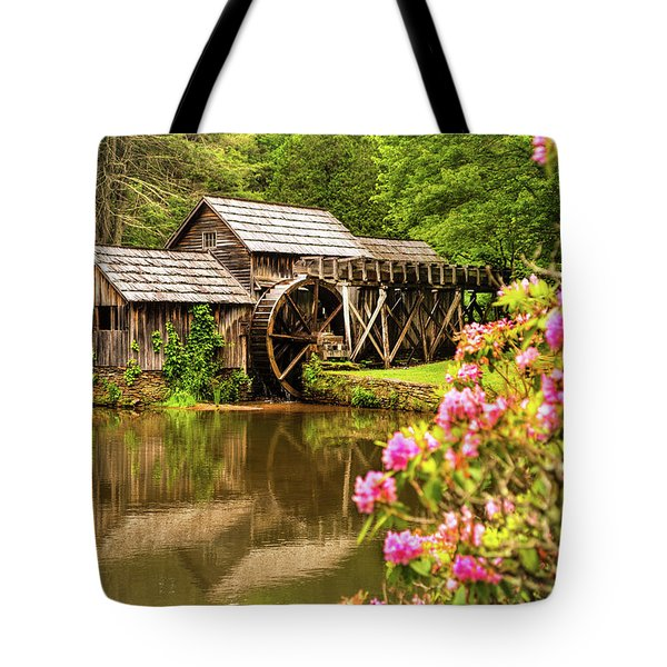 Tote Bag featuring the photograph Mabry Mill by Rebecca Hiatt