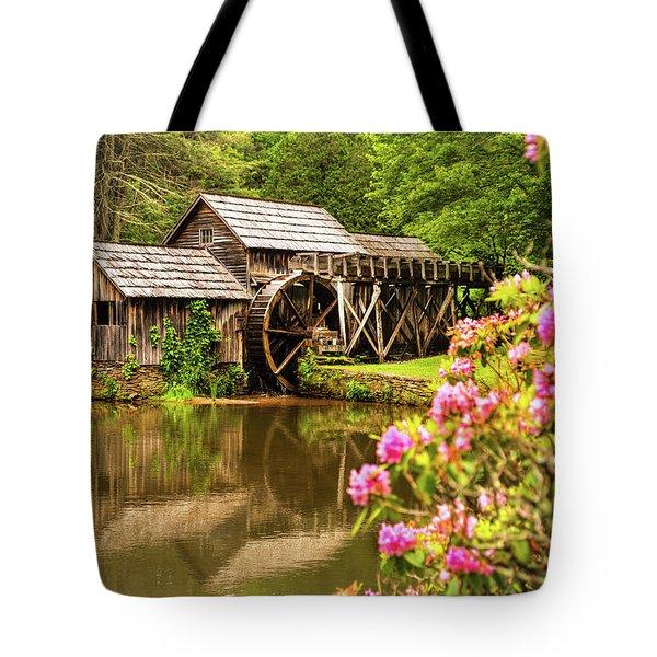 Mabry Mill Tote Bag by Rebecca Hiatt