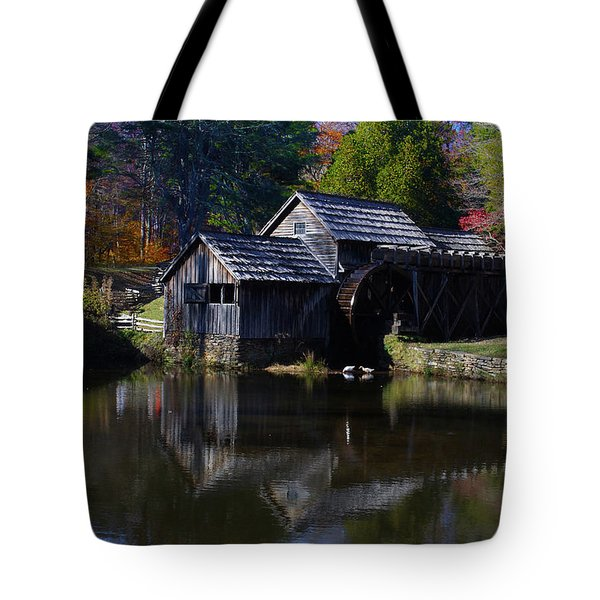 Mabrys Mill On The Blue Ridge Tote Bag