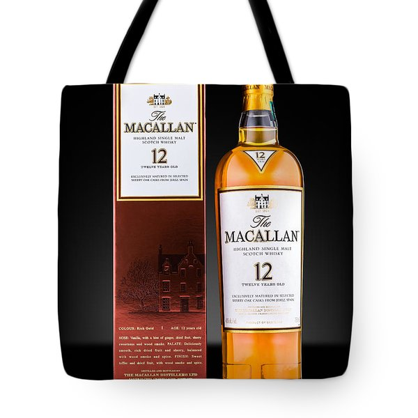 Macallan Single Malt Whisky Tote Bag by Mihai Andritoiu