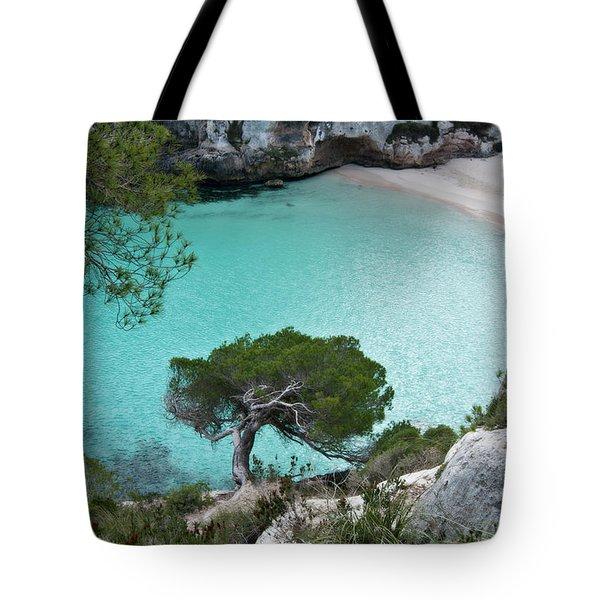 Macarelleta Turquoise Jewell By Pedro Cardona Tote Bag