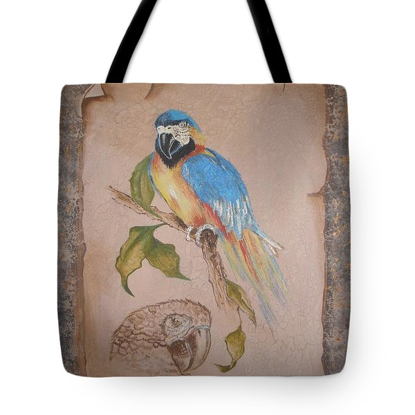 Macaw Tote Bag by Betty-Anne McDonald