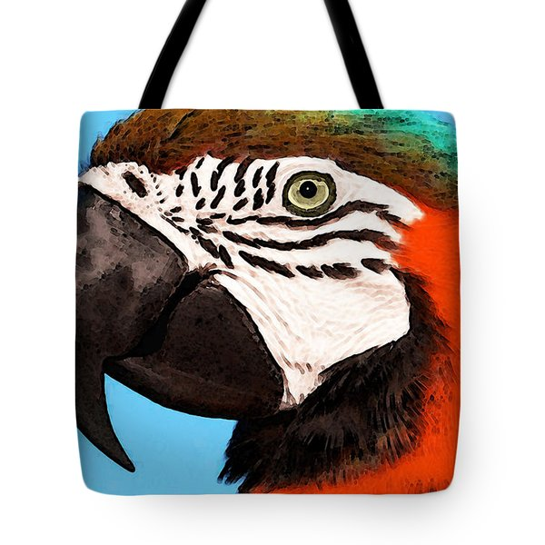 Macaw Bird - Rain Forest Royalty Tote Bag by Sharon Cummings