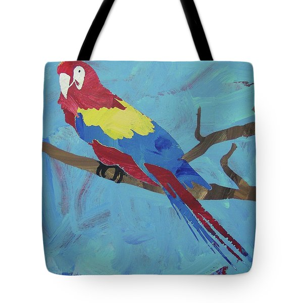 Tote Bag featuring the painting Macaw by Candace Shrope