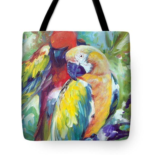 Macaw Pair Tote Bag by Marcia Baldwin
