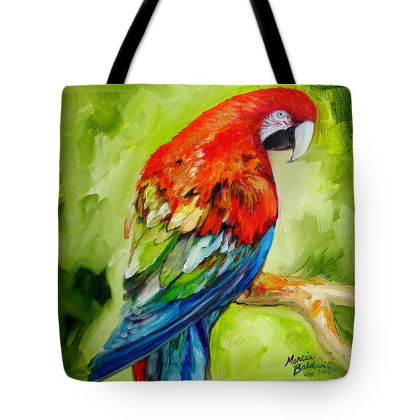 Macaw Tropical Tote Bag by Marcia Baldwin