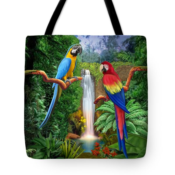 Macaw Tropical Parrots Tote Bag