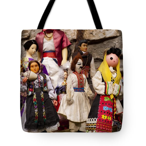 Macedonian Dolls Tote Bag by Rae Tucker