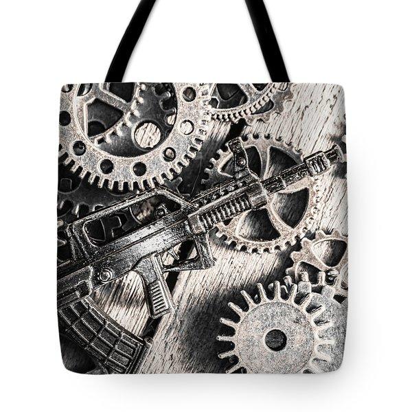 Machines Of Military Precision  Tote Bag