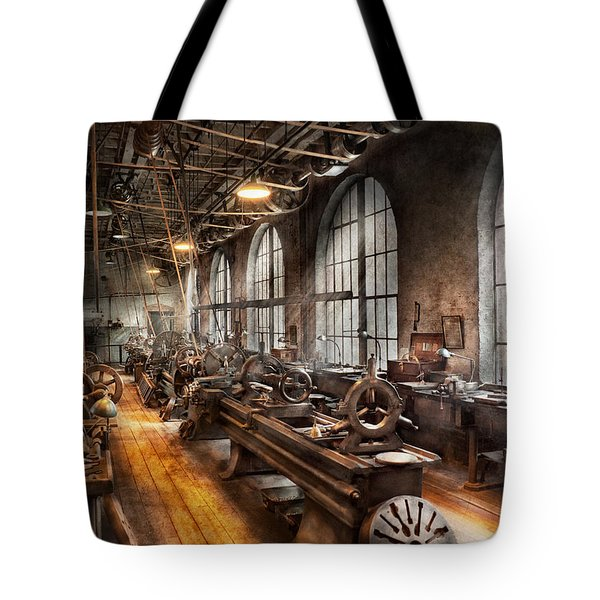 Machinist - A Room Full Of Lathes  Tote Bag