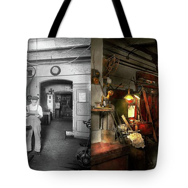 Machinist - Government Approved 1919 - Side By Side Tote Bag by Mike Savad