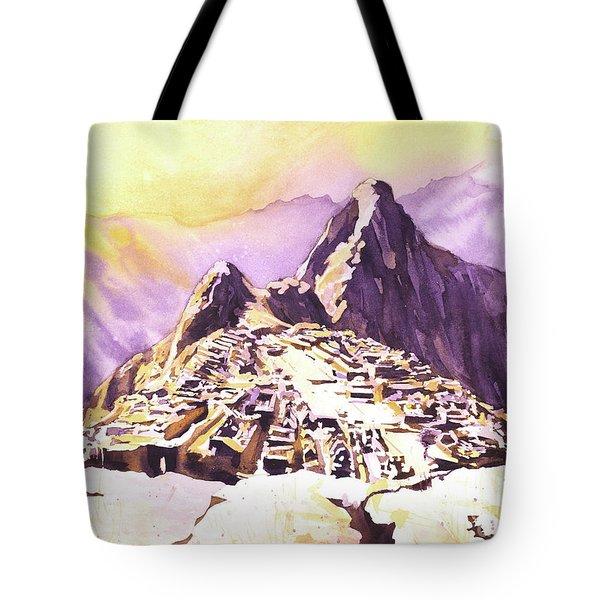 Machu Picchu Dawn Tote Bag