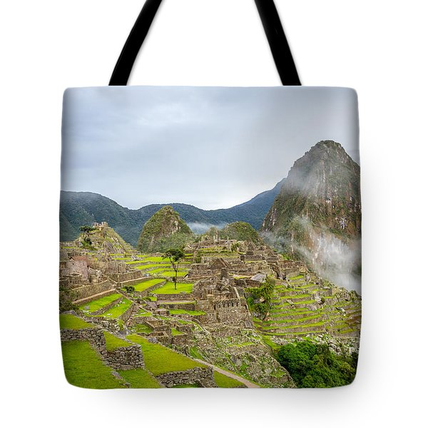 Tote Bag featuring the photograph Machu Picchu. by Gary Gillette