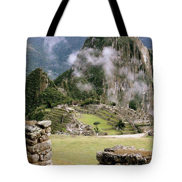 Machu Picchu In The Morning Light Tote Bag
