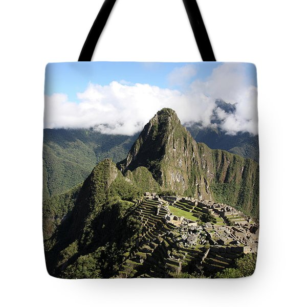 Tote Bag featuring the photograph Machu Picchu Ruin, Peru by Aidan Moran