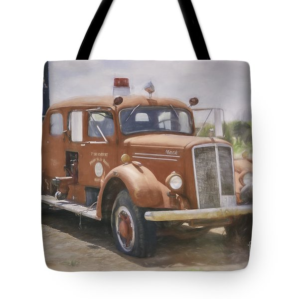Mack Fire Truck  Tote Bag