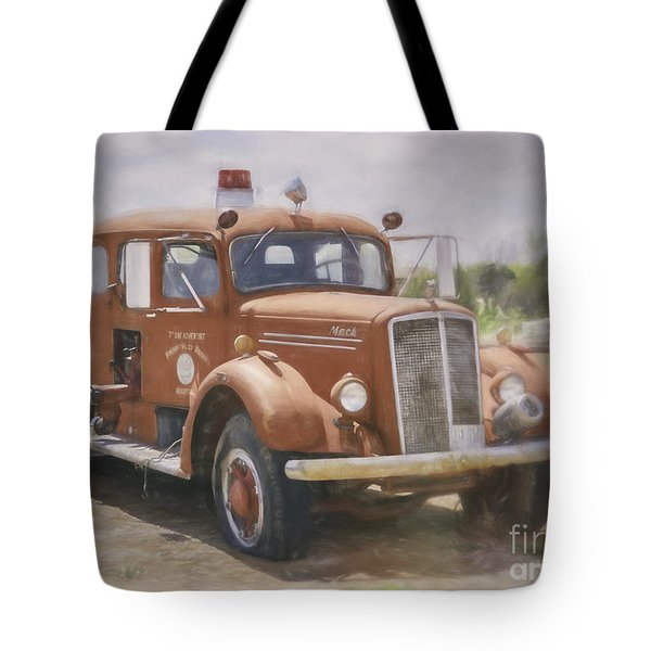 Mack Fire Truck  Tote Bag