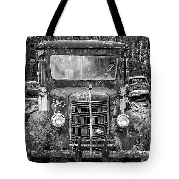 Mack Truck In A Junkyard Tote Bag