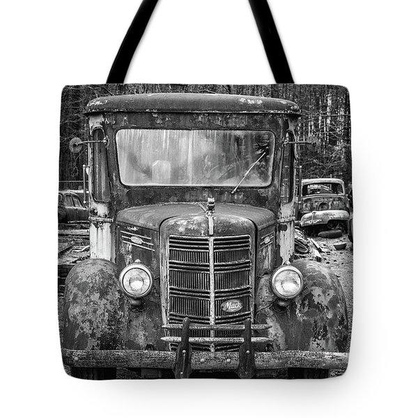 Mack Truck In A Junkyard Tote Bag