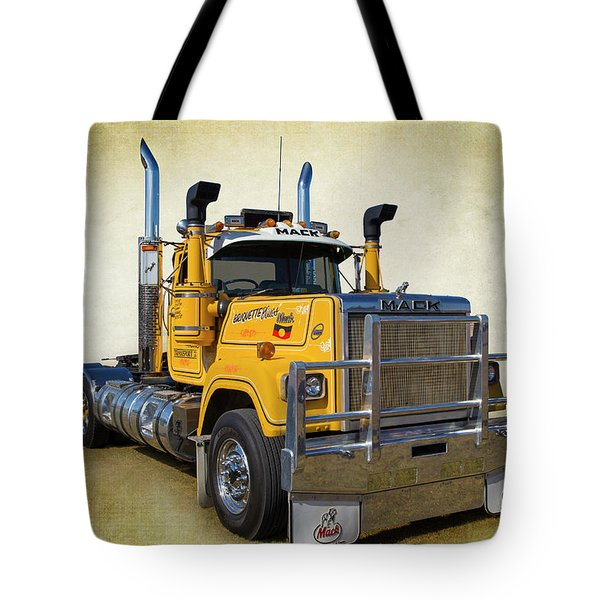 Mack Truck Tote Bag by Keith Hawley