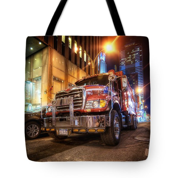 Mack Truck Nyc Tote Bag