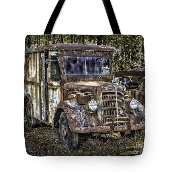Very Old Mack Truck Tote Bag