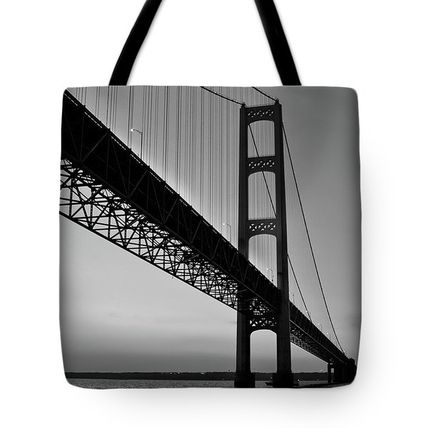 Mackinac Bridge At Sunset Tote Bag