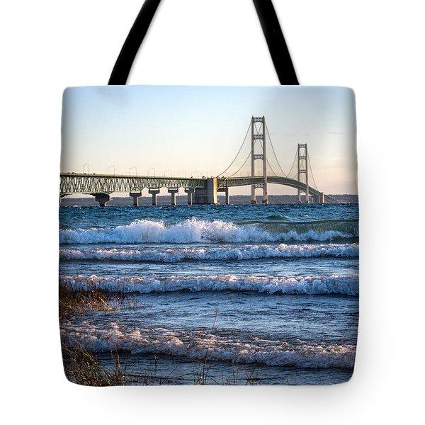 Mackinac Bridge Michigan Tote Bag