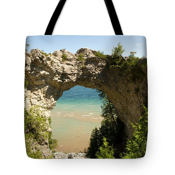 Mackinac Island Arch Tote Bag