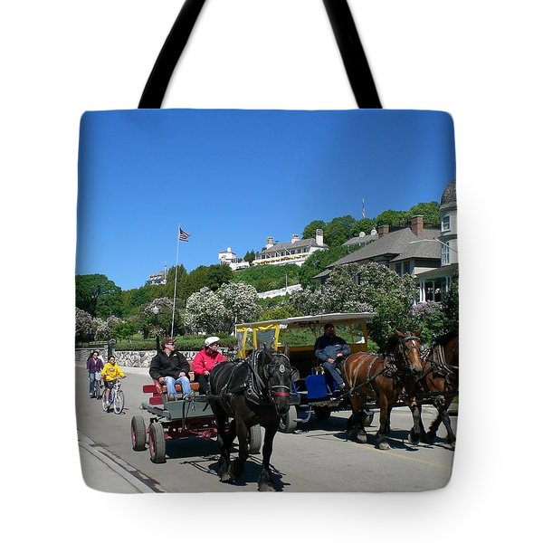 Mackinac Island At Lilac Time  Tote Bag by Keith Stokes