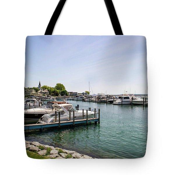 Mackinac Island Marina Tote Bag