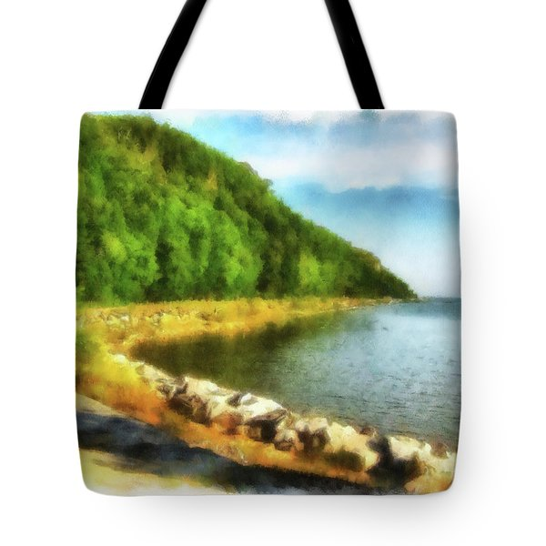 Mackinac Island Michigan's Northeast Shore Tote Bag
