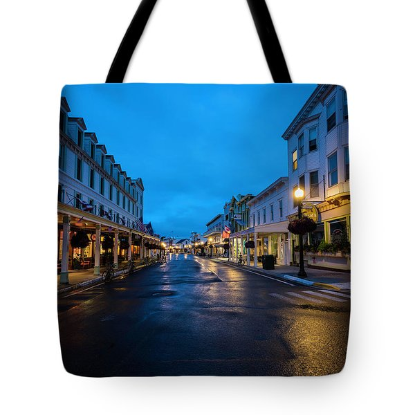 Mackinac Island Town At Dawn Tote Bag