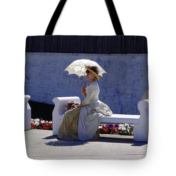 Mackinac Lady Tote Bag by Keith Stokes