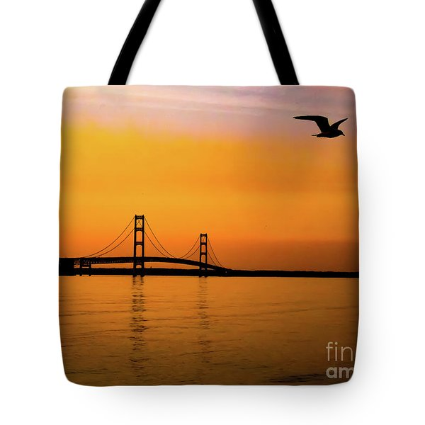 Mackinaw Sunset  Tote Bag