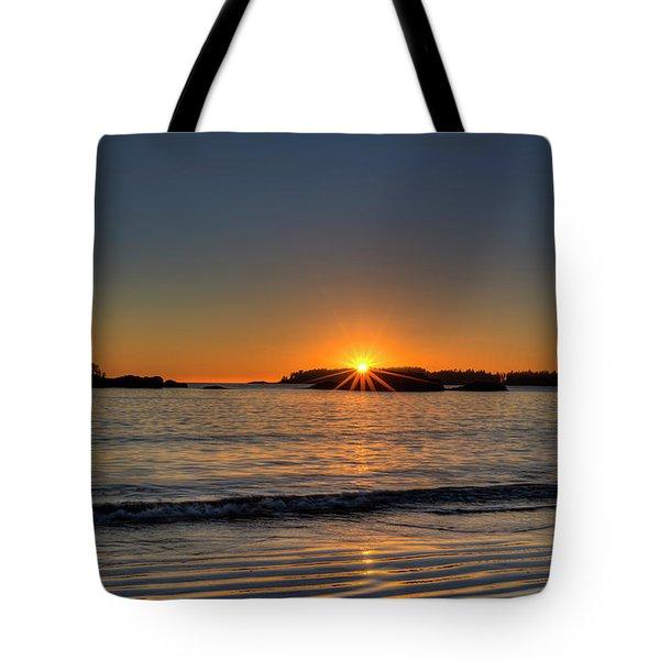 Mackinsie Beach Sun Burst Tote Bag