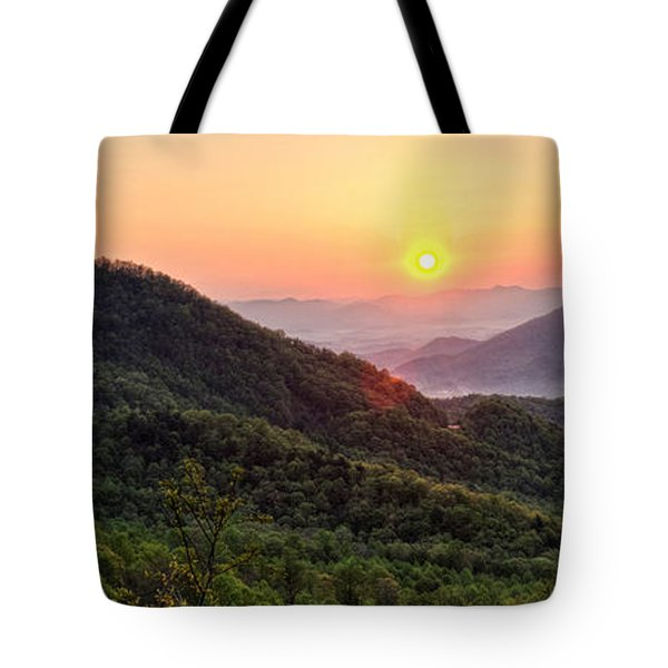Macon County North Carolina Mountains Tote Bag