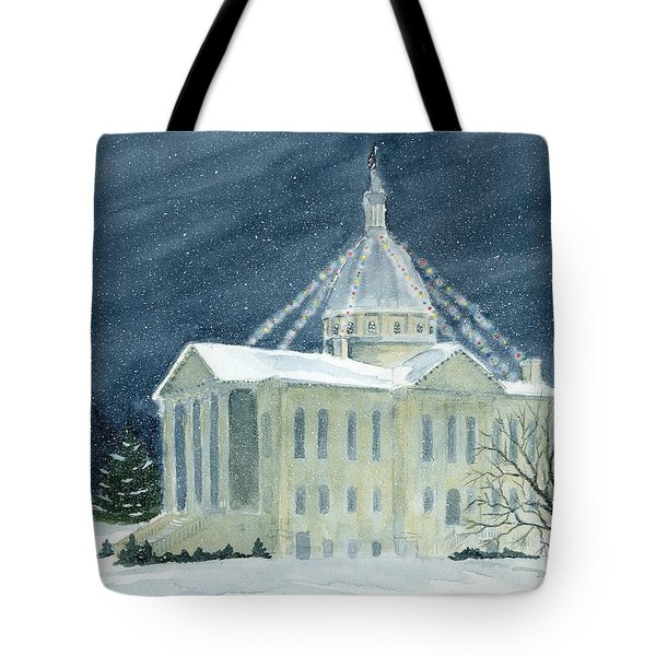 Macoupin County Illinois Courthouse Tote Bag by Denise   Hoff