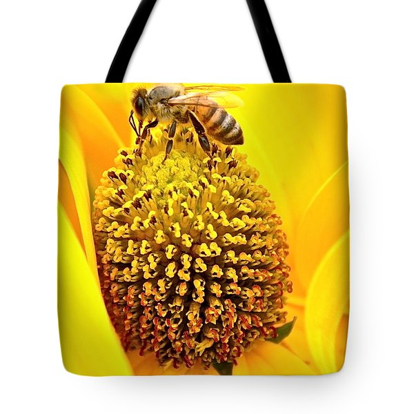 Macro Bee Tote Bag