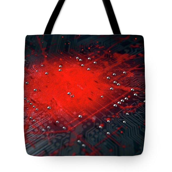 Macro Circuit Board Infection Tote Bag