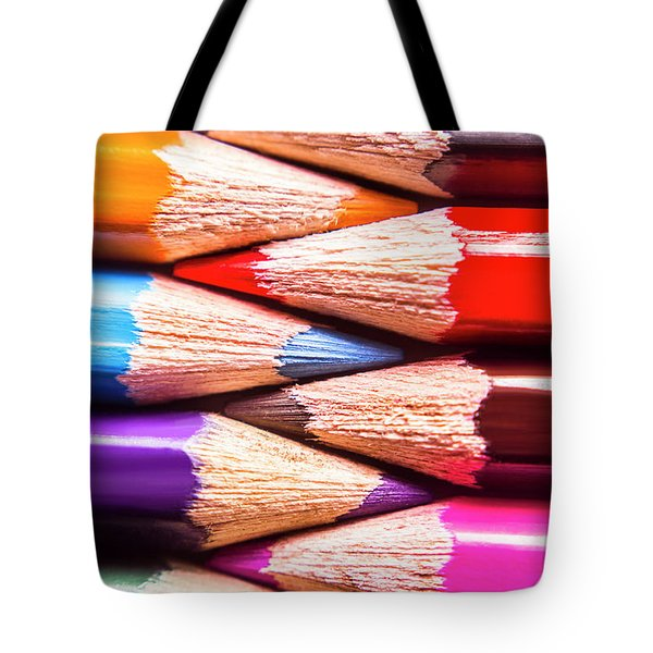 Macro Coloured Pencil Crossover Tote Bag