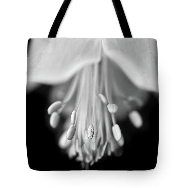 Macro Columbine Flower Monochrome Tote Bag