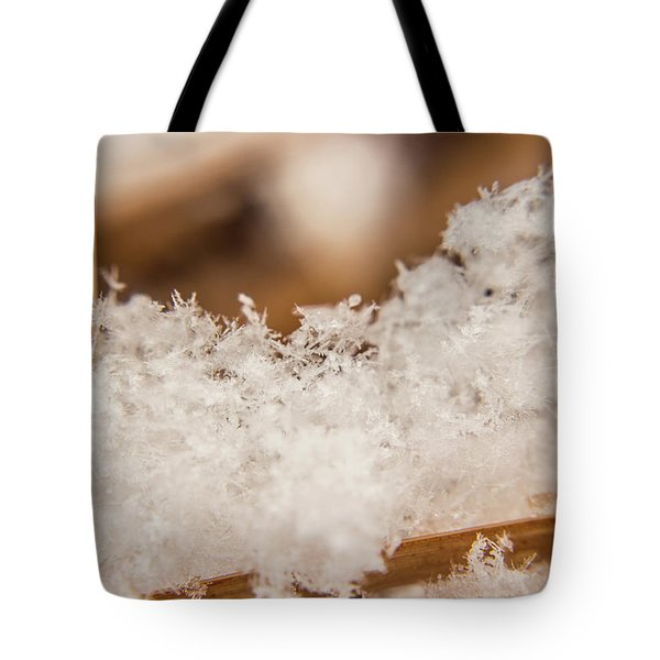Tote Bag featuring the photograph Macro Crystal by Tyson Kinnison