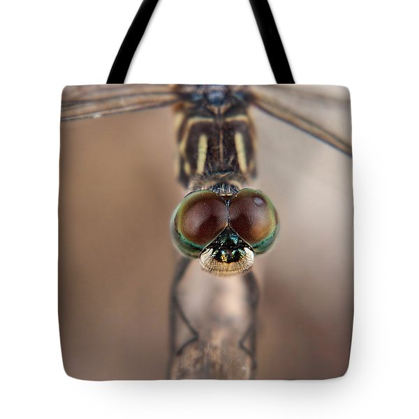 Macro Dragonfly Tote Bag
